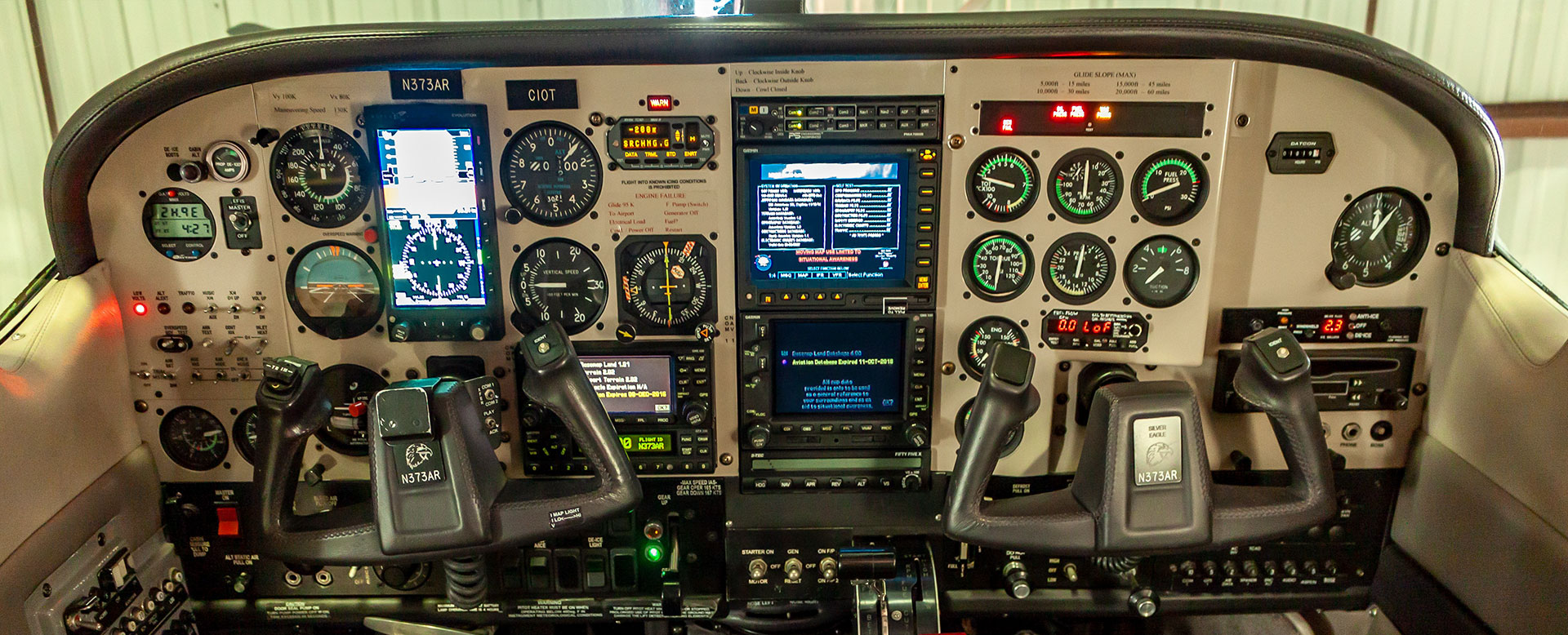 airplane dash console